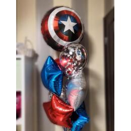 Букет из шариков Щит Америки со звездами
