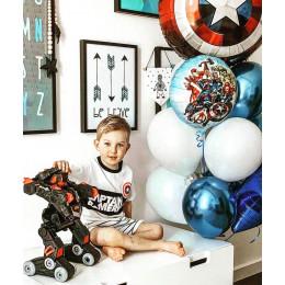 Букет шариков Щит Америки с любимыми героями Мстителей