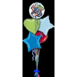 Букет шариков Мстители с сердцем и звездами