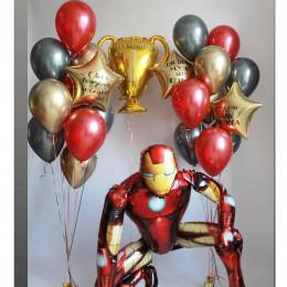 Композиция из шаров с Железным Человеком и Золотым кубком