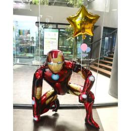 Сет из гелиевых шаров Железный Человек с именной звездой
