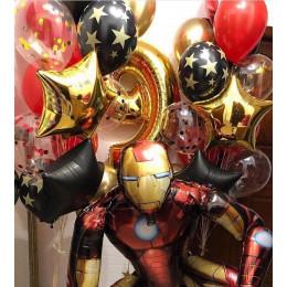 Композиция из шаров Железный Человек на девять лет мальчику