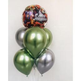 Букет из воздушных шариков Мстители на День Рождения