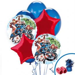 Букет гелевых шариков Мстители со звездами