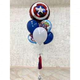 Фонтан из гелиевых шариков Мстители со Щитом Америки