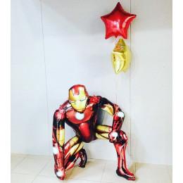 Набор гелевых шаров Железный Человек и звезды