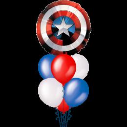Букет из шариков с гелием Щит Капитана Америки