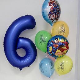 Композиция из шаров на шестилетие суперкоманда Мстителей