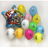 Композиция из шаров с гелием Команда Мстителей с шарами Эра Альтрона