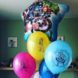 Букет из гелиевых шаров с легендарными героями Мстителей