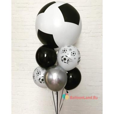 Букет шаров с футбольными шарами мужчине