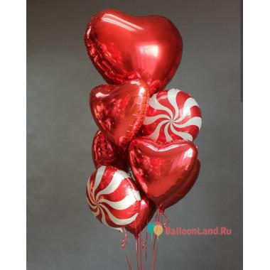 Букет шариков для любимого человека на день всех влюблённых