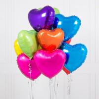 Облако шариков с гелием Яркая любовь