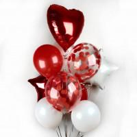 Букет шаров с гелием в подарок любимой