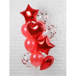 Фонтан воздушных шаров Звёзды и сердца