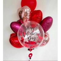 Сет воздушных шаров с вашей надписью и сердцами