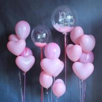 Композиция из воздушных шаров для любимой с вашей надписью