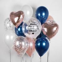 Сет гелиевых шаров для любимого человека с вашей надписью