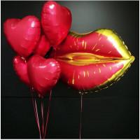 Сет гелиевых шаров Для влюблённых