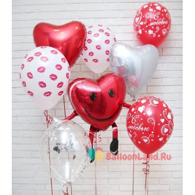 Композиция из шаров на 14 февраля Милое сердце
