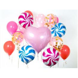 Композиция из шаров с большим сердцем для любимого человека