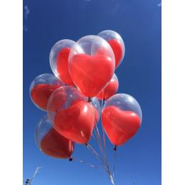 Шары в шаре, красные сердца