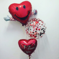 Сет шаров с радостным сердцем
