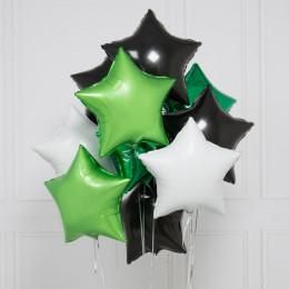 Букет шаров для любимого в камуфляжных цветах