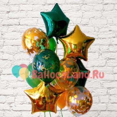Букет воздушных шаров в подарок мужчине на 23 февраля