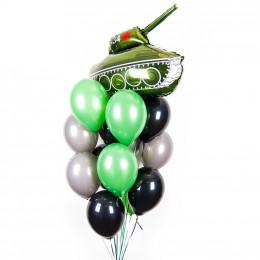 Букет шариков с гелием любимому защитнику