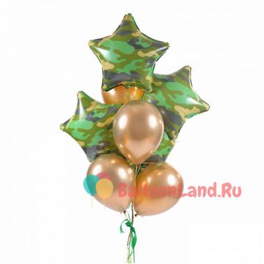 Букет воздушных шаров в подарок любимому защитнику