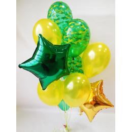 Букет шаров с гелием Звёзды для защитника