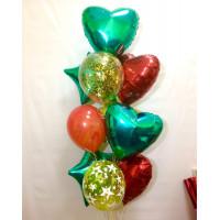 Фонтан из шариков с гелием в подарок любимому защитнику