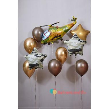 Композиция из шаров в подарок защитнику