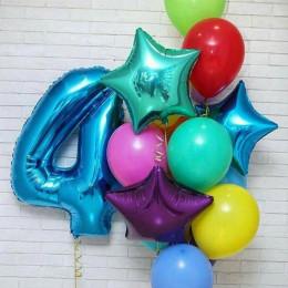 Сет разноцветных шаров на День Рождения с цифрой