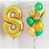 Сет гелиевых шаров на 8 марта с цифрой