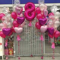 Оформление из шаров на Международный Женский День