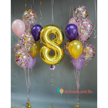 Композиция из воздушных шаров в подарок любимой