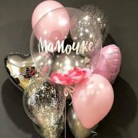 Букет шаров с гелием Для мамы на 8 Марта