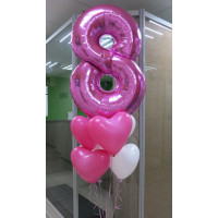 Букет гелиевых шаров в подарок на женский день