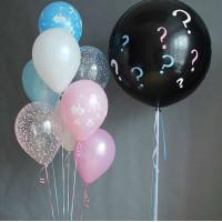Сет шариков для будущих родителей с большим шаром-сюрпризом
