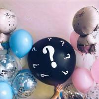 Композиция из шаров с гелием для будущих родителей с шаром-сюрпризом