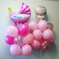Набор воздушных шаров на рождения малышки