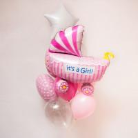 Букет воздушных шаров на рождение дочки