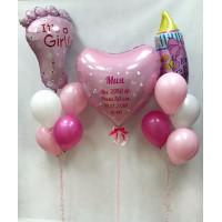 Сет воздушных шаров на выписку для дочки с вашей надписью