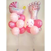 Сет воздушных шаров на рождения доченьки