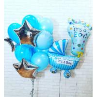 Сет воздушных шаров со звёздами на выписку сына из роддома