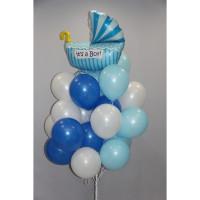 Облако воздушных шаров на выписку малыша из роддома
