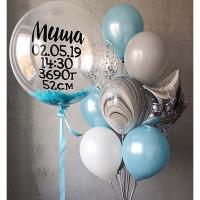 Сет воздушных шаров на выписку сыночка с вашей надписью