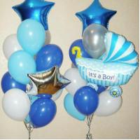 Набор шаров с гелием на выписку малыша из роддома